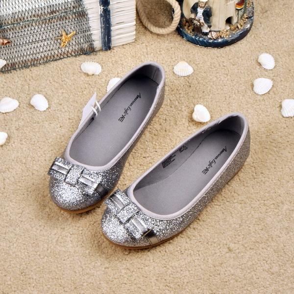 超值美国品牌女童蝴蝶结闪闪单鞋 公主皮鞋 亲子鞋