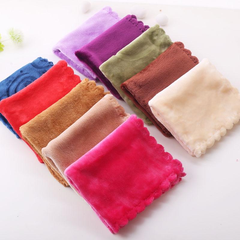 Coral rag handkerchief thickened towel cleaning small towel absorbent kitchen dishwashing towel square towel car towel 3030