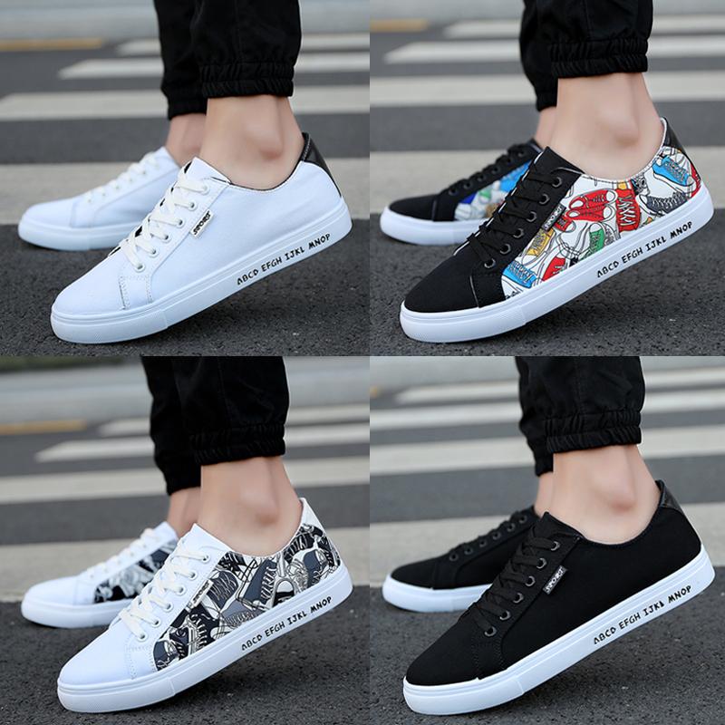 Весна сезон холст обувь мужской воздухопроницаемый случайный обувь корейский ткань обувная мужская обувь низкий тенденция черно-белые цвета мужская обувь сын