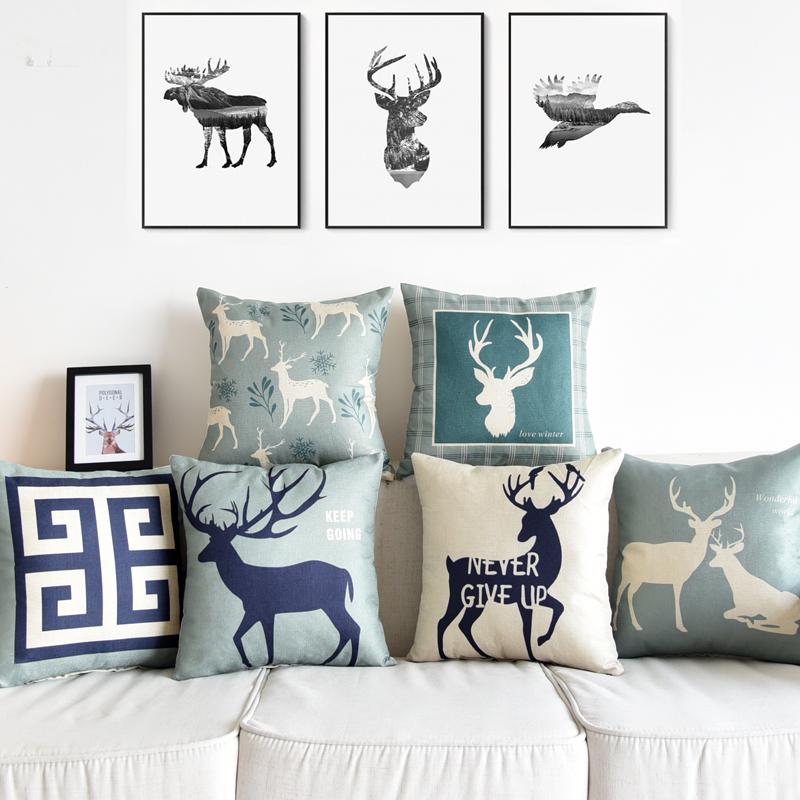 北欧风格棉麻抱枕家用腰靠枕腰垫-优惠券3元淘宝包邮