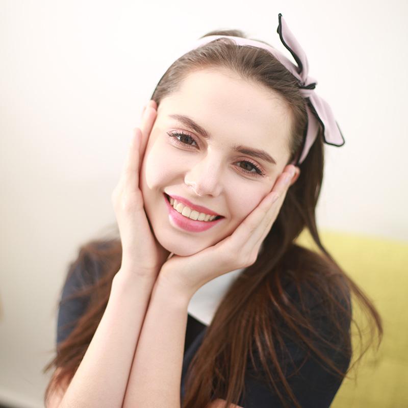 韩国发箍头箍宽边甜美淑女可爱超萌兔耳朵蝴蝶结布艺发卡成人森女