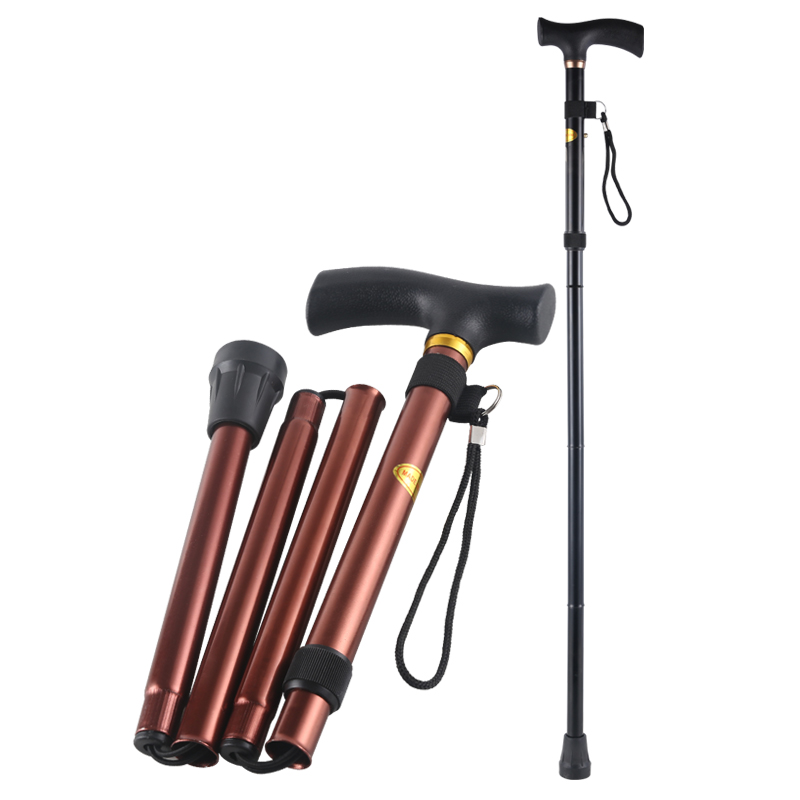 折叠拐杖老年人拐棍手杖防滑登山杖户外折叠超轻铝合金拐杖伸缩