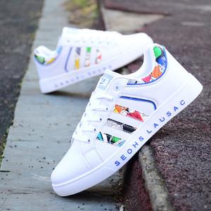 韩版2018新款小白鞋透气