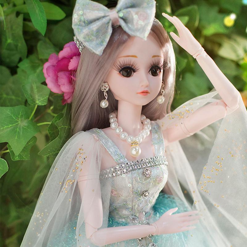 换装女孩洋娃娃套装大礼盒公主过家家依甜芭比玩具单个生日礼物布