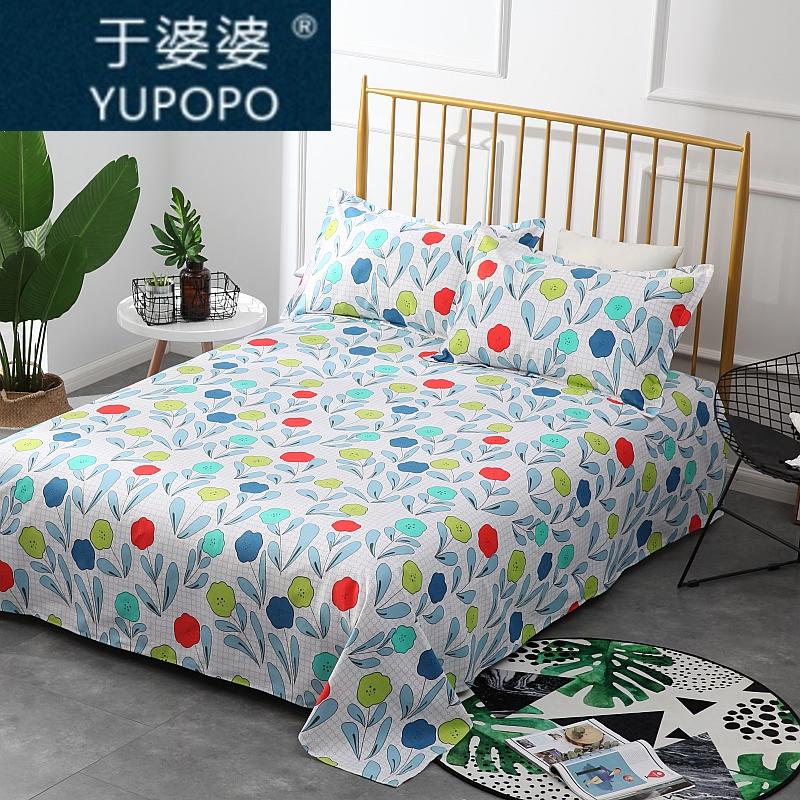 于婆婆纯棉印花加厚老粗布 单双人床单被单 粗布帆布床单包邮