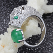 925 sterling silver BaoTou chalcedony ring Han edition ideas Ms male ring original jewelry silver accessories