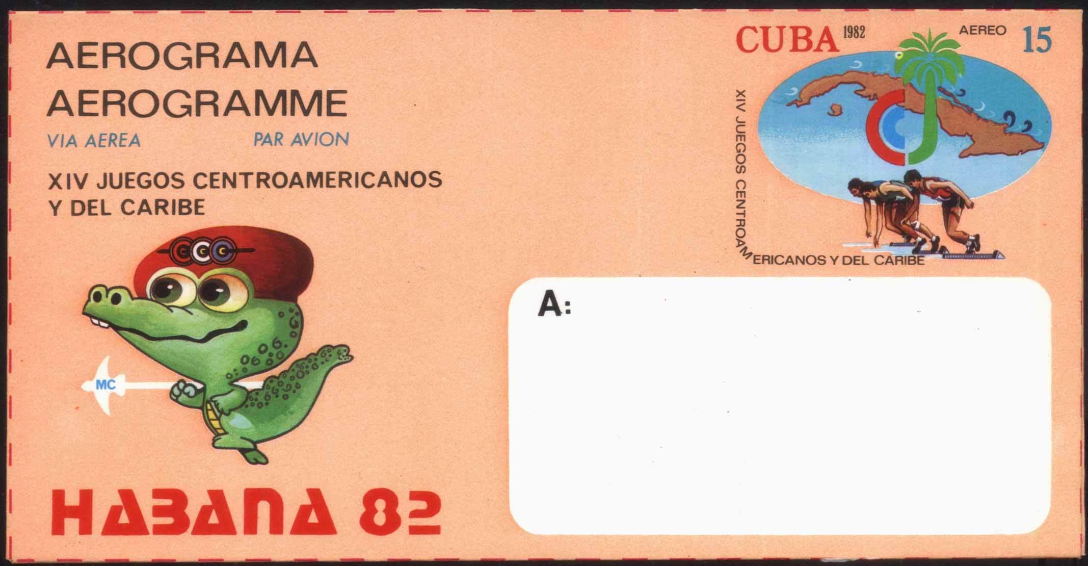 HB-YJ1 куба '82 простой изображенный бокс матч бейсбол водное поло матч почта простой изображенный куба карта печать
