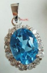Natural topaz Shi Yin pendant special package mail!