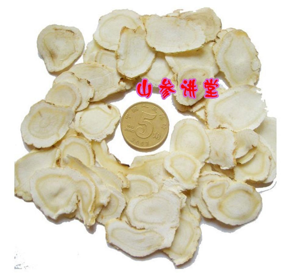 Белый женьшень женьшеня женьшеня ломтики большие участки северо-восточной кухни в Чанбай горный женьшень Лонг бай Shansheng Sun большой