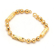 Smiling post new fashion alloy Bangle bracelets gold Korean male jewelry female 348369