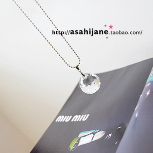 Beautiful crystal ball drop necklace