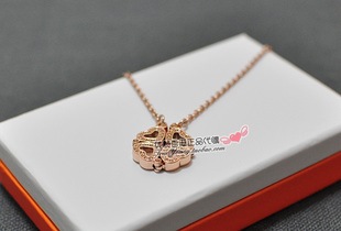 Folli Follie Heart 4 Heart Clover Heart necklace hollow silver rose gold