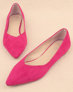 2013 new shoes with a single flat shoes women flat shoes pointed Korean version of sweet candy colored rose red shoes scoop