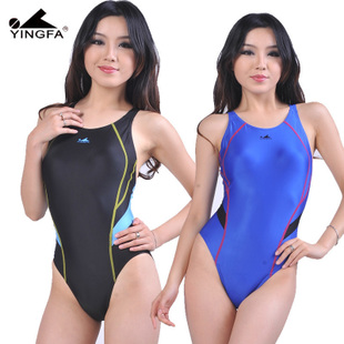 Climax genuine professional competition match spell color models shark mounted triangle piece swimsuit female Y926