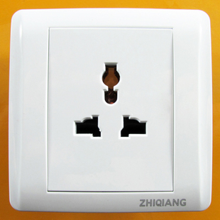 Multi socket A8 luxury all white series wall switch panel warranty of 12 years steel