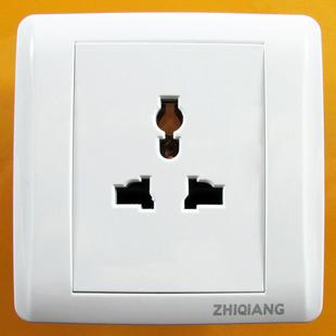 多功能插座 A8豪华全白系列 墙壁开关 面板 质保12年 钢架