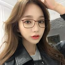 透明眼镜框女网红款韩版潮男透明复古大圆脸近视辐射电脑眼镜ins
