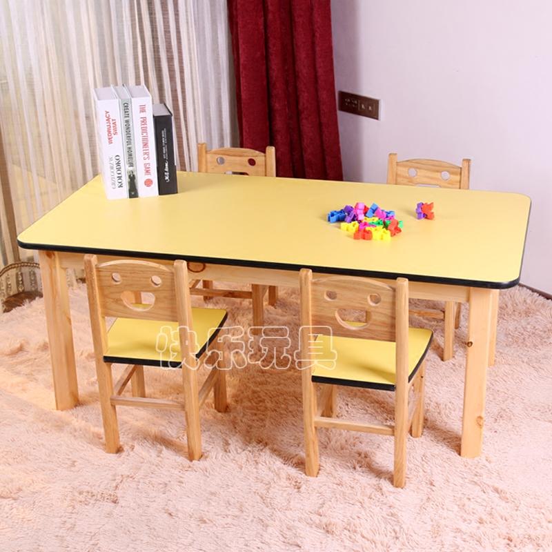 Детский сад цвет дерево столы и стулья ребенок игра игрушка столы и стулья набор комбинации изучение письменный стол запись стол