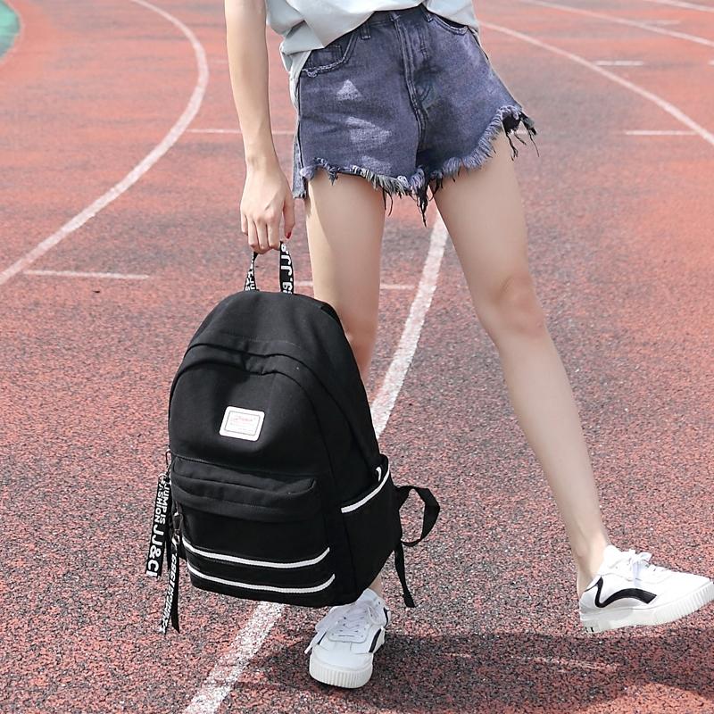 Хорошо монарх младшей средней школы студент портфель женщина корейский кампус институт ветер рюкзак департамент старшие классы средней школы университет рюкзак женщина холст