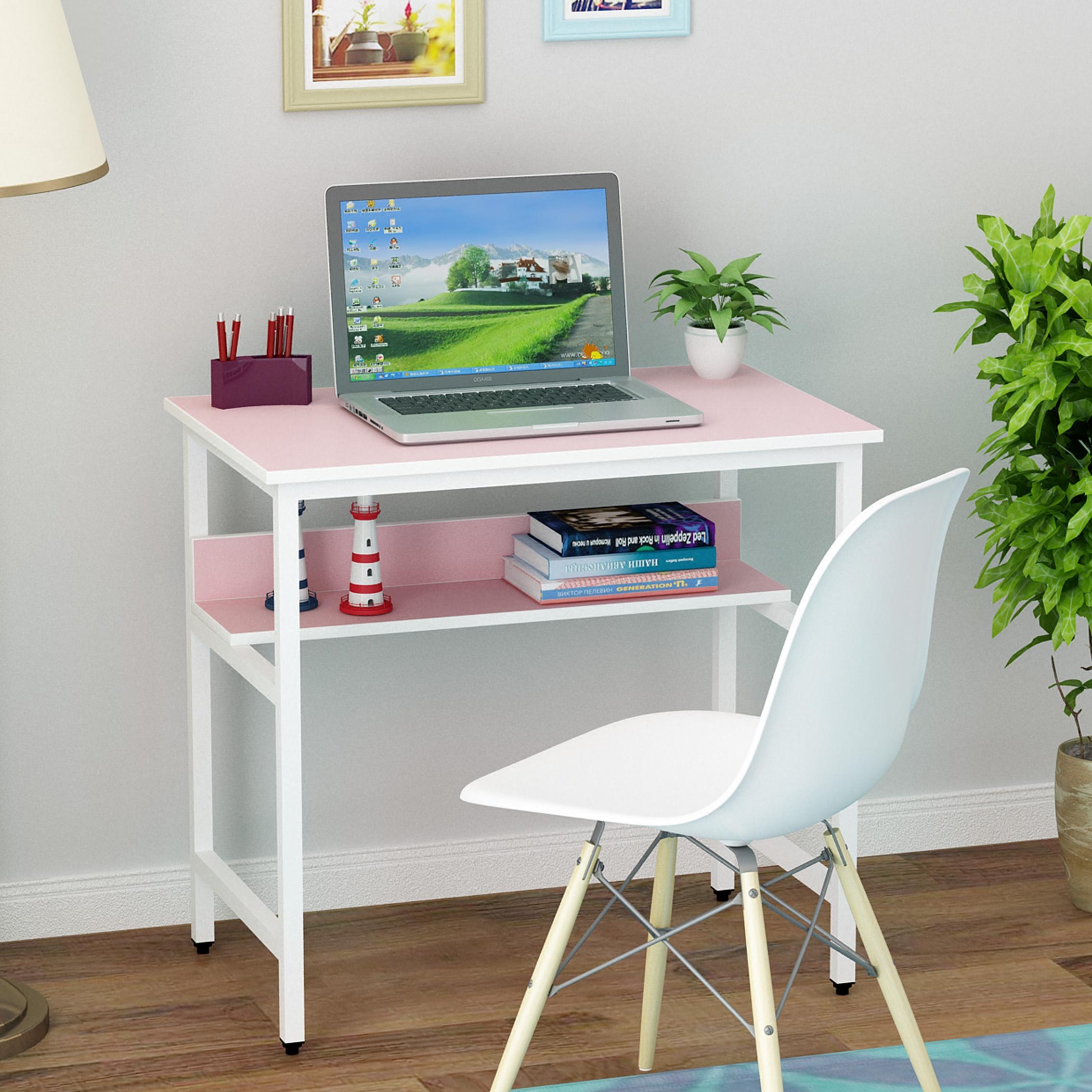 笔记本电脑桌子卧室写字桌学生写字台书桌家用单人两层桌子经济型