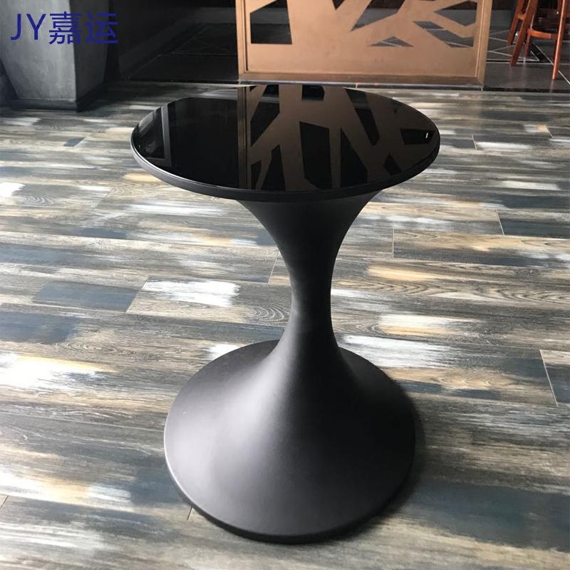 简约现代圆形创意沙发边几客厅角几时尚金属茶几钢化玻璃电话边桌