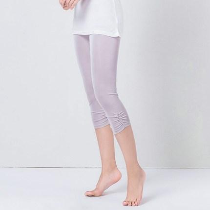 针织真丝七分裤薄款凉爽打底裤子
