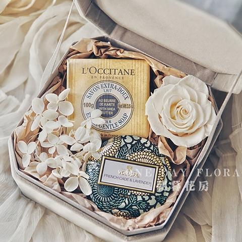 朝暮L'occitane/voluspa花房永生花盒香薰礼盒结婚生日礼物送闺蜜