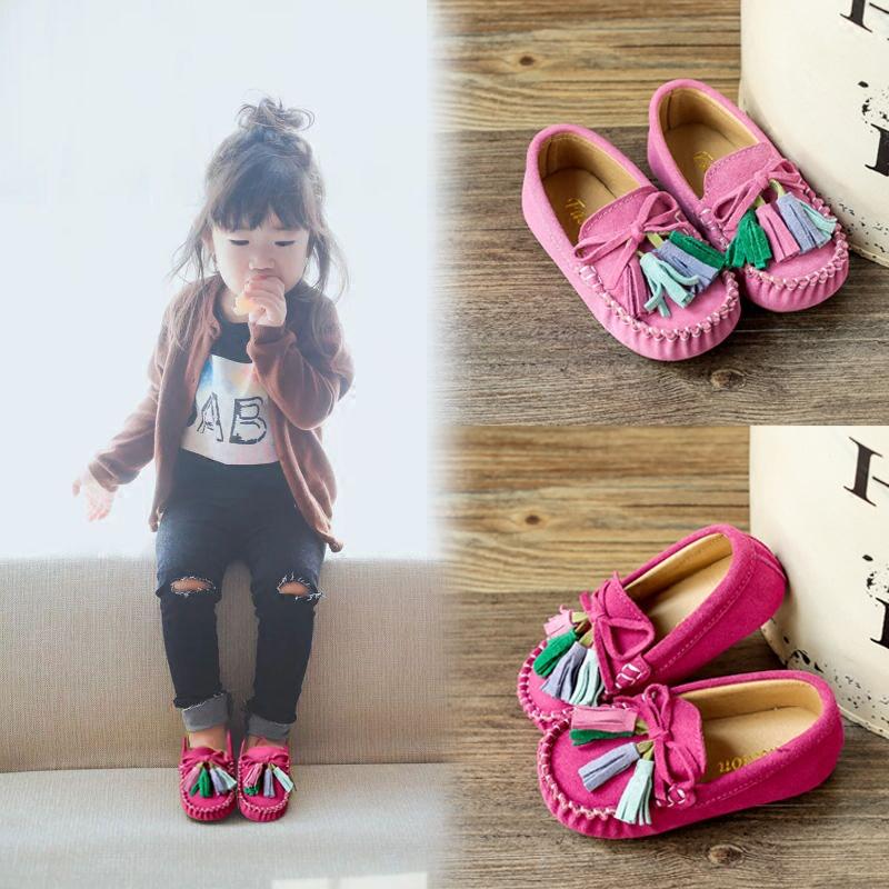 女童豆豆鞋真皮1-3岁4套脚棉鞋