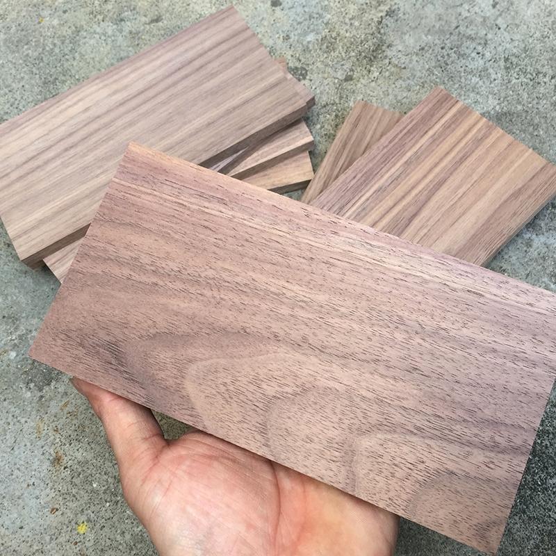 特价清仓黑胡桃实木小料原木料FAS级黑胡桃薄片薄板料DIY盒子木料图片