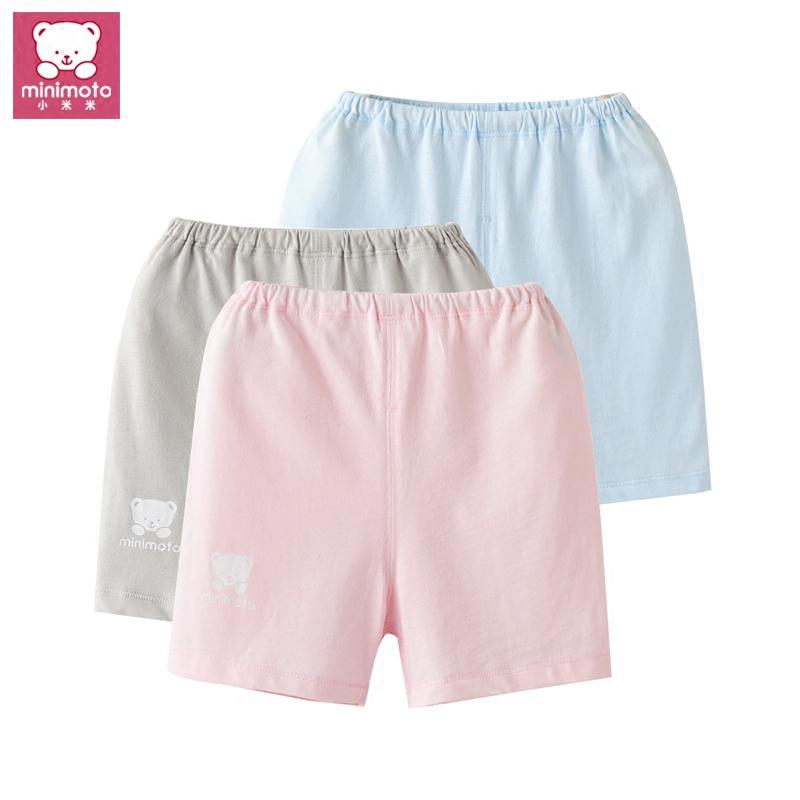 小米米夏裝寶寶可開襠薄短褲 minimoto男女童 短褲 嬰兒全棉褲