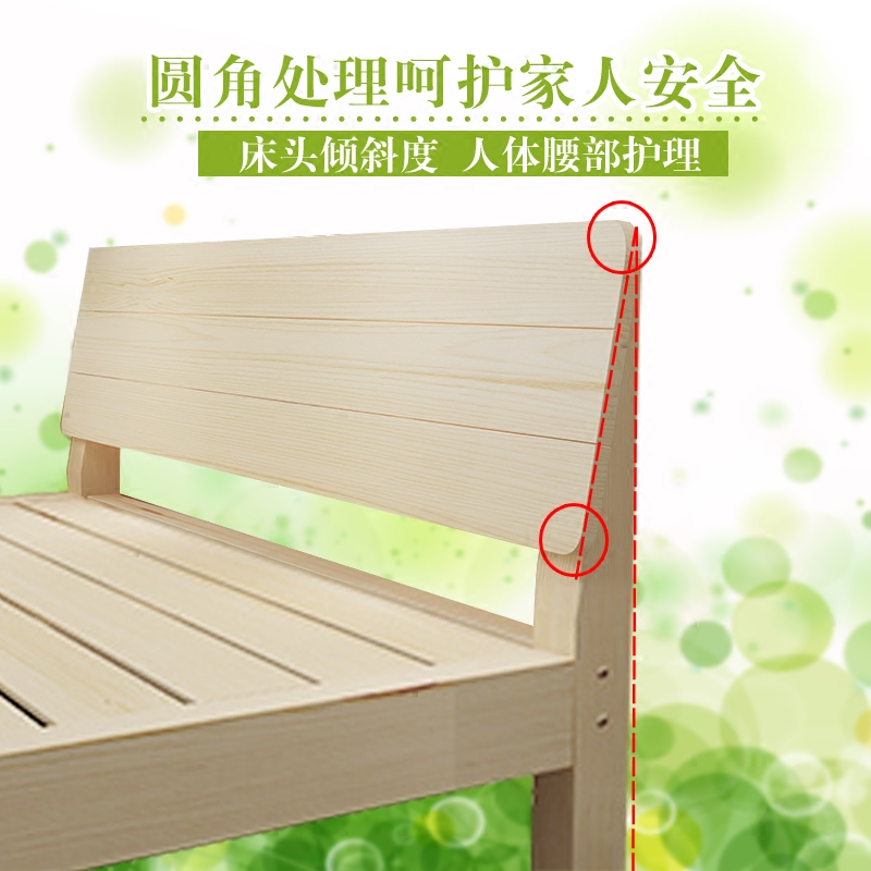 Деревянные кровати легко сосна кровать 1.5 1.8 3м кровать 1.2 m сингл людская кровать аренда дом детская кроватка деревянные кровати