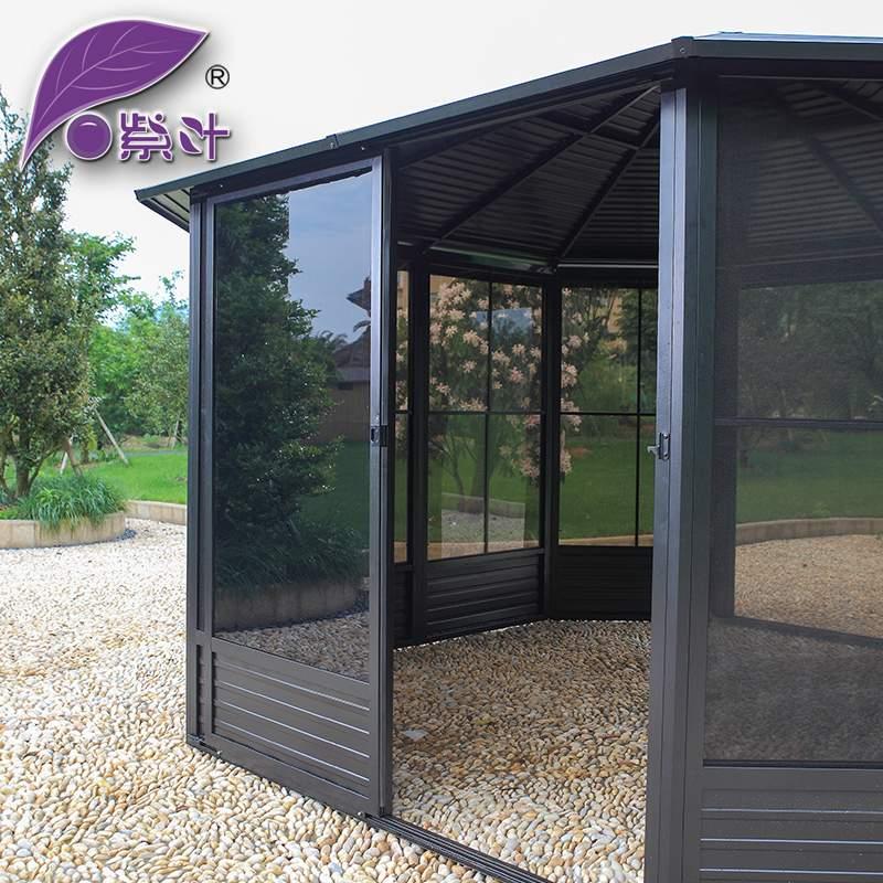 阳光房别墅庭院遮阳棚 花园露台阳光房PC板遮阳凉亭户外帐篷