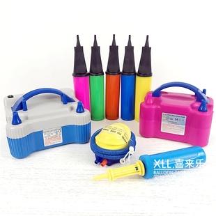 电动充气机压缩高效充气泵气球打气筒脚踩脚踏手推打气球充气工具