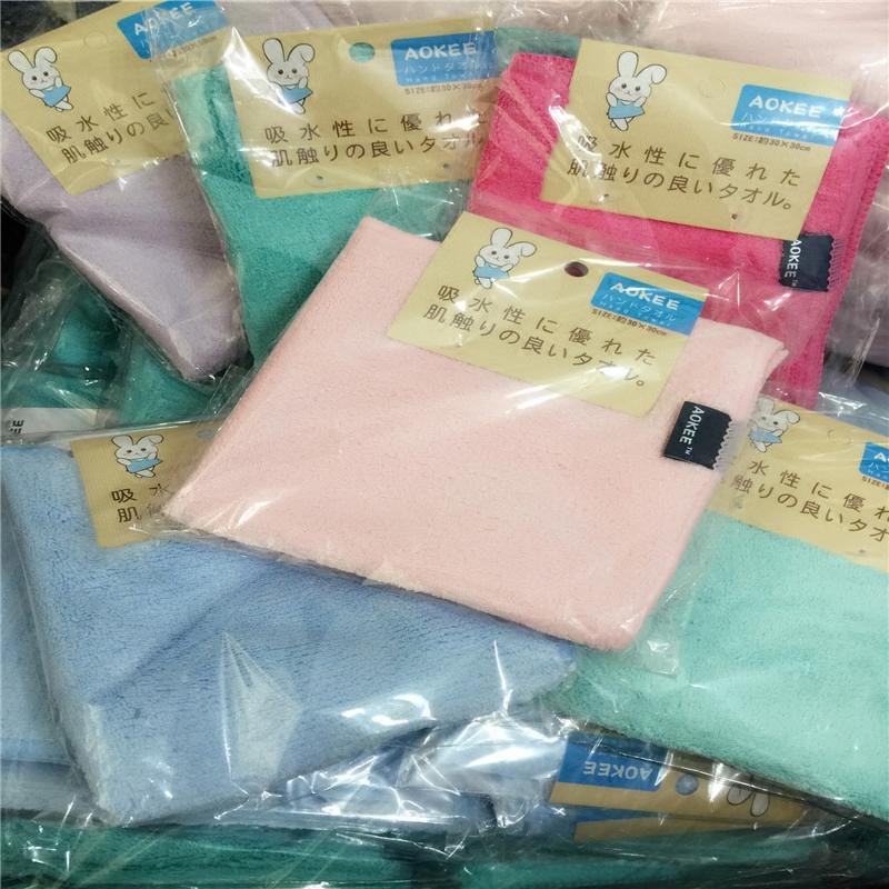 实用马卡龙色超强吸水柔软小方巾婴儿口水巾擦手帕吸汗巾30*30cm