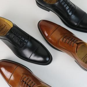 三接头男士真皮商务正装牛津皮鞋固特异头层牛皮男鞋新郎婚鞋青年