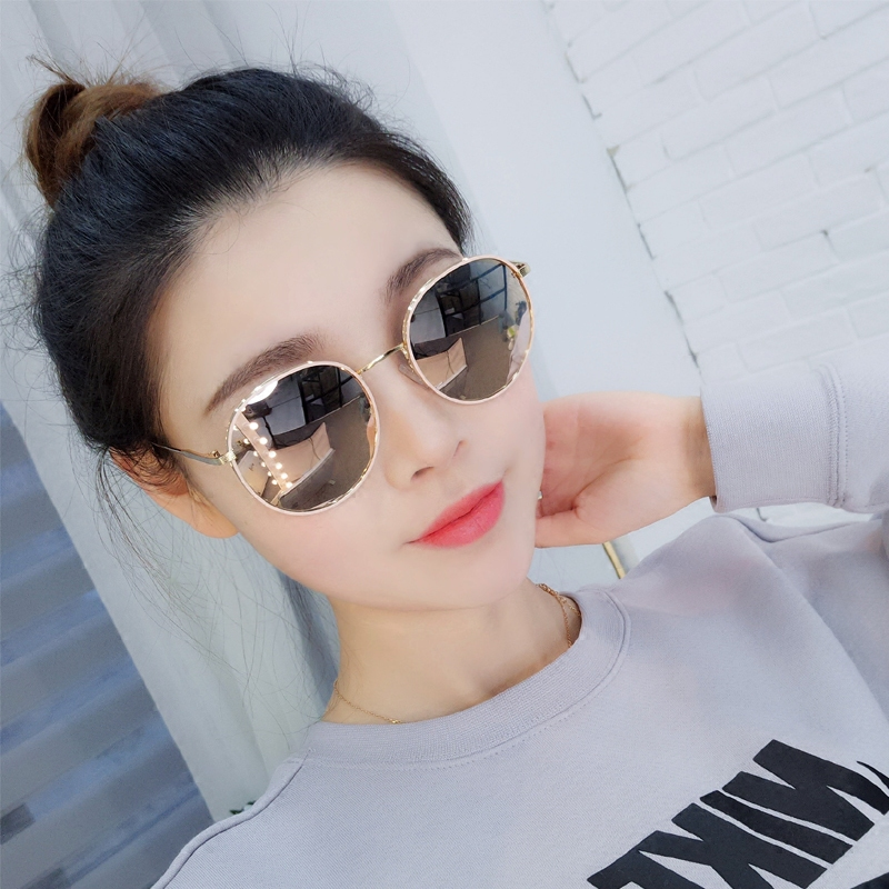 2020新款圆脸墨镜女偏光太阳眼镜ins防紫外线韩版网红款大脸显瘦