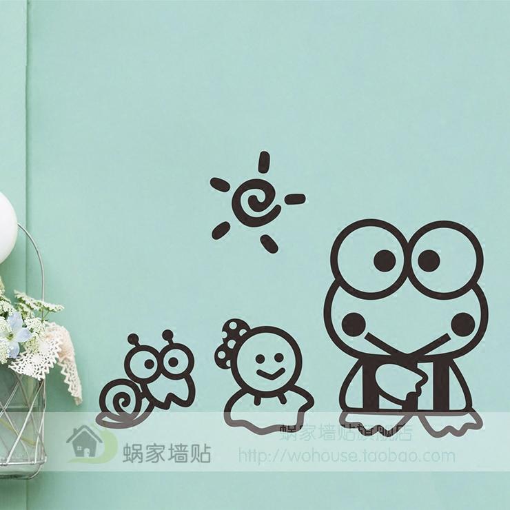 Keroppi большие глаза лягушка милый творческий анимация мультики ноутбук наклейки коммутатор резерва стекло паста наклейки для стен бумага