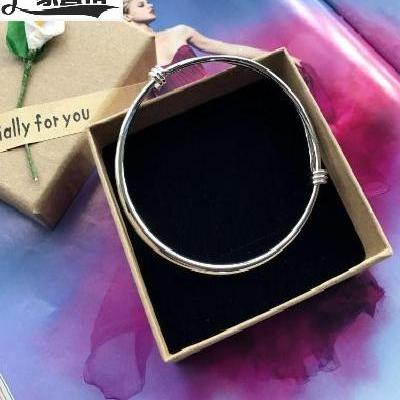 New Korean version small bell anklet silver fashion Anklet girl smooth simple versatile temperament Anklet