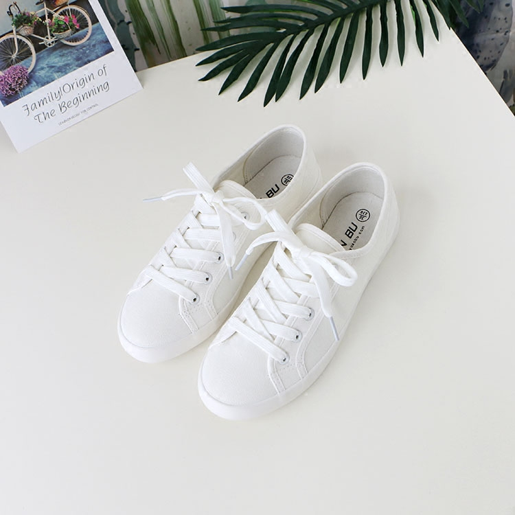 Harajuku Korean version of white canvas shoes for female students