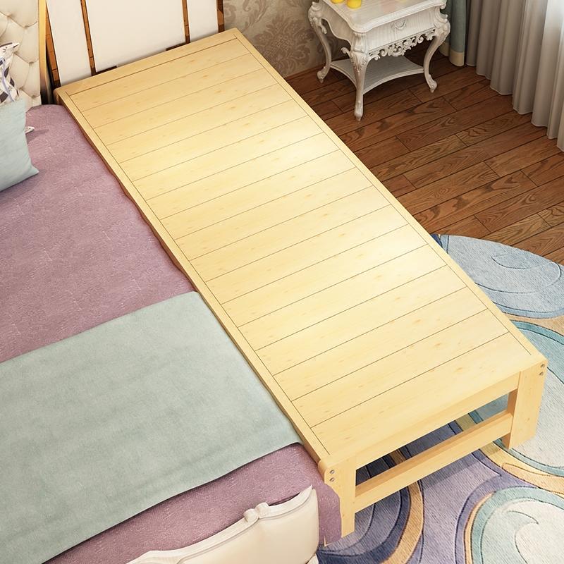 限时2件3折包邮床加宽加长拼接实木松木床单人双人床榻榻米儿童床 床板定制