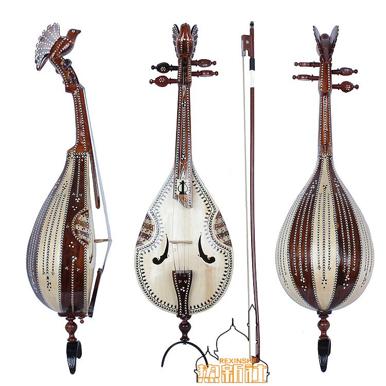 Новый Музыкальные инструменты Синьцзян-Уйгур ручная работа Создание национальных музыкальных инструментов Huxitar стандартный Квази-пианино