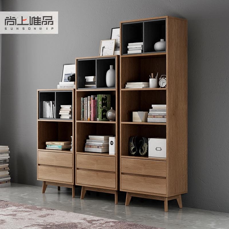 北欧自由组合书柜书架简约置物架多格储物柜子客厅多功能收纳边柜