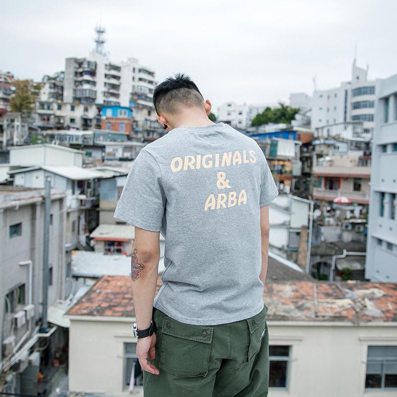 BDCT японский ретро алфавит T футболки 2018 новый лето порт ветер улица прилив бренд свободный с коротким рукавом мужской волна