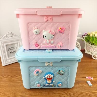 卡通创意少女心零食多用收纳盒美甲箱叮当杂物箱置物箱便携
