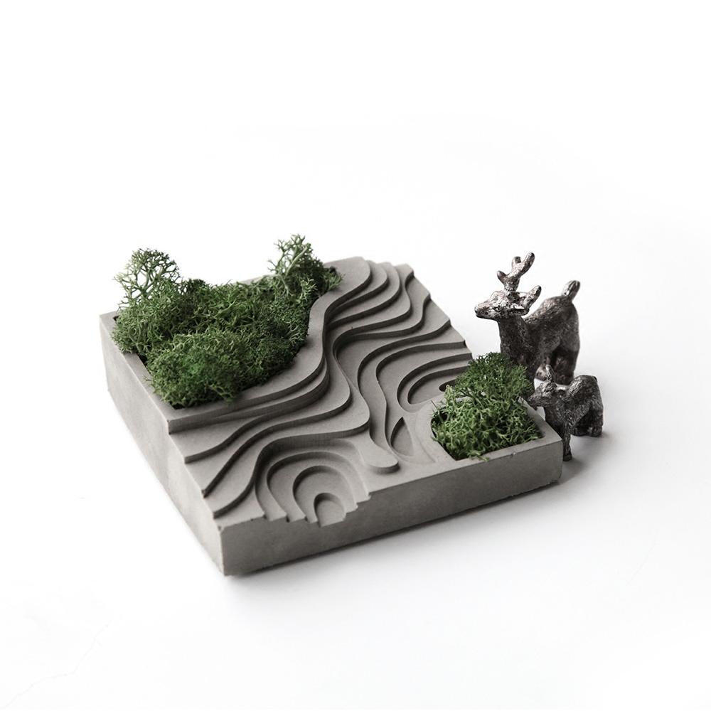 Оригинальный цемент творческой террасы микро-ландшафт дизайн домашний магазин украшение настольный декор полная сотня бесплатная доставка по китаю