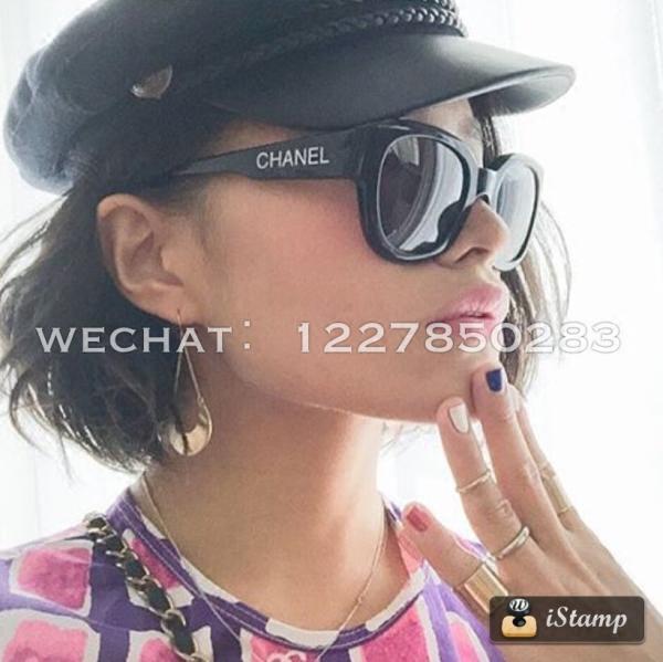Винтажные шанель черно -белые буквы очки солнцезащитные очки