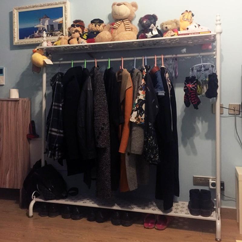 歐式簡易衣架門廳衣帽架落地 居家卧室掛衣架衣服架子服裝架包郵