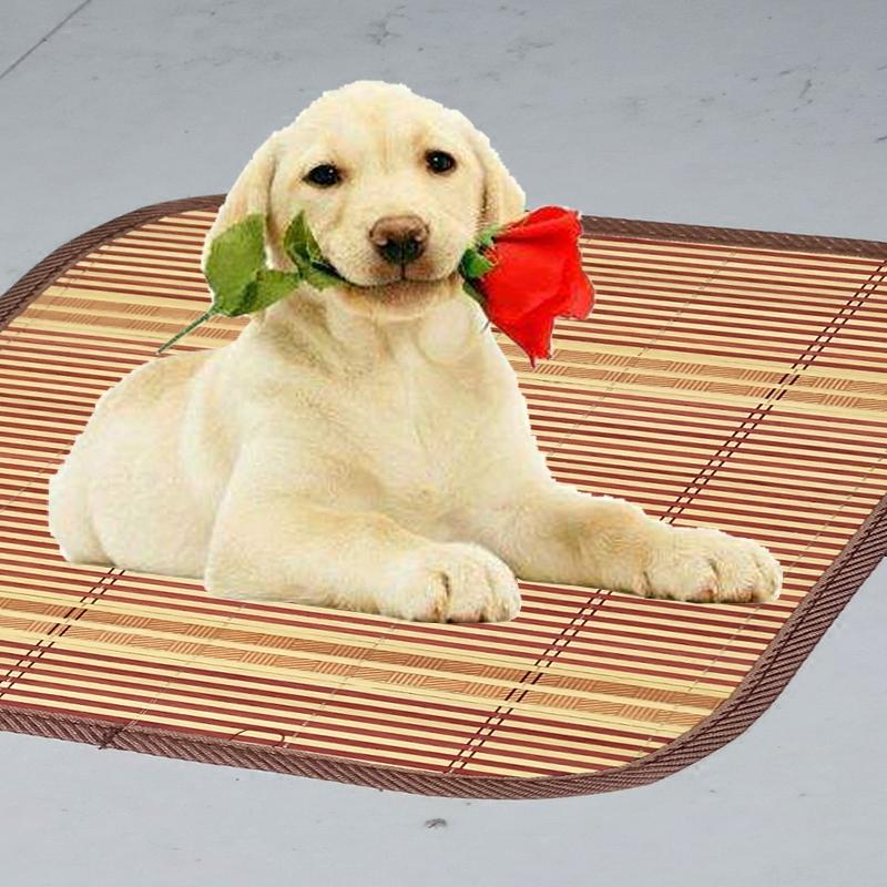 狗狗涼席寵物墊子夏天降溫席子泰迪窩墊竹席冰墊狗窩貓墊夏季用品
