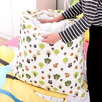 Thickened clothes soft storage box oversized cotton hemp canvas moving bag clothes finishing Big bag