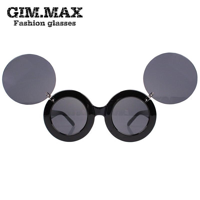 GIMMAX раскладушка круглые солнцезащитные очки корейских мужчин и женщин, выполняющих очки box смешные очки